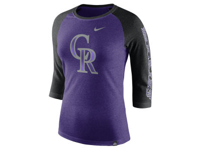 Colorado Rockies Nike MLB Women's Tri-Blend Raglan T-shirt