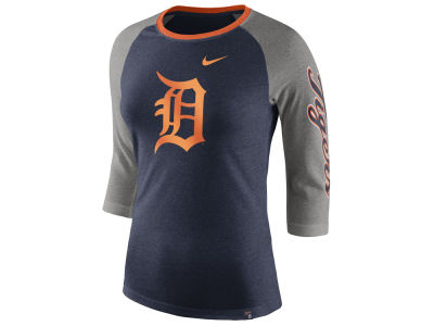 Detroit Tigers Nike MLB Women's Tri-Blend Raglan T-shirt