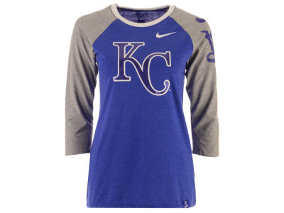 Kansas City Royals Nike MLB Women's Tri-Blend Raglan T-shirt