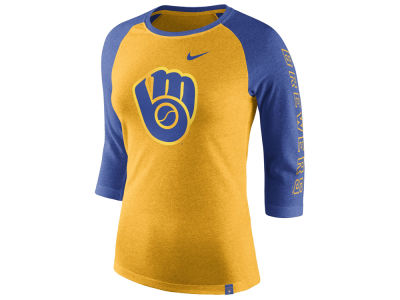 Milwaukee Brewers Nike MLB Women's Tri-Blend Raglan T-shirt
