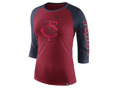 Minnesota Twins Nike MLB Women's Tri-Blend Raglan T-shirt