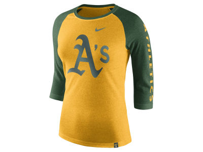 Oakland Athletics Nike MLB Women's Tri-Blend Raglan T-shirt