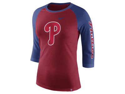 Philadelphia Phillies Nike MLB Women's Tri-Blend Raglan T-shirt