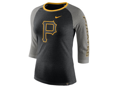 Pittsburgh Pirates Nike MLB Women's Tri-Blend Raglan T-shirt