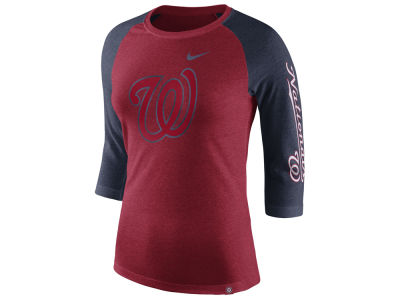 Washington Nationals Nike MLB Women's Tri-Blend Raglan T-shirt