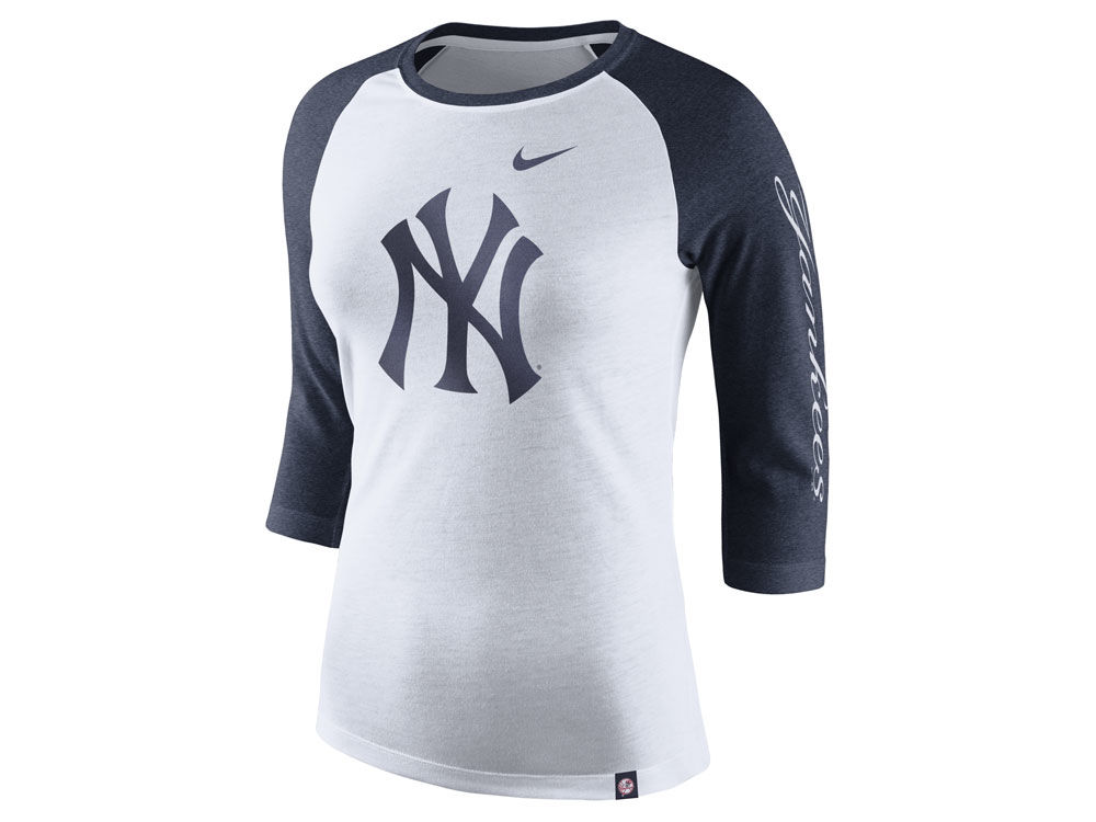 New York Yankees Nike MLB Women s Tri-Blend Raglan T-shirt  3275ca7087a