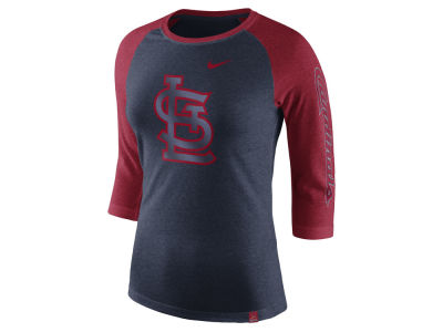 St. Louis Cardinals Nike MLB Women's Tri-Blend Raglan T-shirt