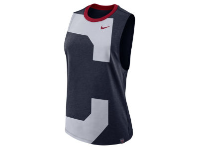 Cleveland Indians Nike MLB Women's Dri- Blend Muscle Mesh Tank