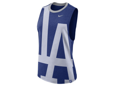 Los Angeles Dodgers Nike MLB Women's Dri- Blend Muscle Mesh Tank