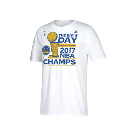 Golden State Warriors Adidas 2017 NBA Men's Finals Parade Locker Room Secondary T-Shirt