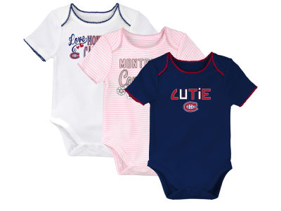 Montreal Canadiens NHL Newborn 3rd Quarter 3pc Creeper Set