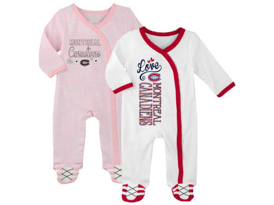 Montreal Canadiens Outerstuff NHL Newborn 3rd Quarter 3pc Creeper Set
