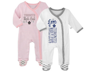 Toronto Maple Leafs NHL Newborn 3rd Quarter 3pc Creeper Set