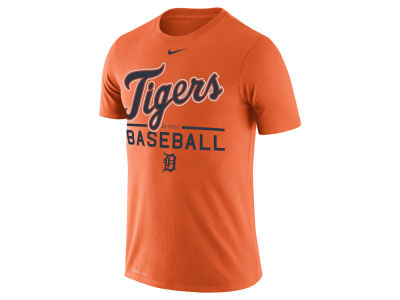Detroit Tigers Nike MLB Women's Cotton Crew Logo T-Shirt