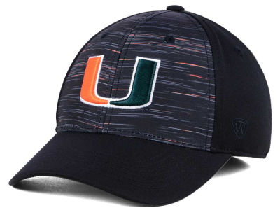 Miami Hurricanes Top of the World NCAA Flash Stretch Cap