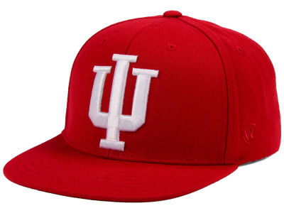 Indiana Hoosiers Top of the World NCAA Extra Logo Snapback Cap