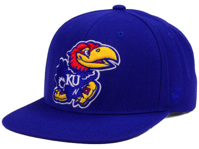 Kansas Jayhawks Top of the World NCAA Extra Logo Snapback Cap