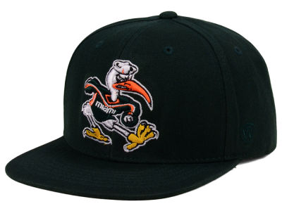 Miami Hurricanes Top of the World NCAA Extra Logo Snapback Cap