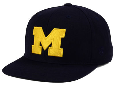 Michigan Wolverines Top of the World NCAA Extra Logo Snapback Cap