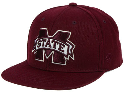 Mississippi State Bulldogs Top of the World NCAA Extra Logo Snapback Cap