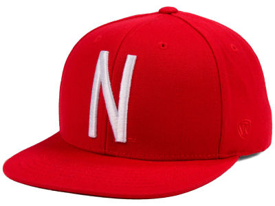Nebraska Cornhuskers Top of the World NCAA Extra Logo Snapback Cap