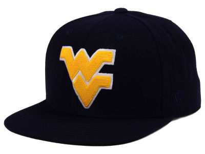 West Virginia Mountaineers Top of the World NCAA Extra Logo Snapback Cap