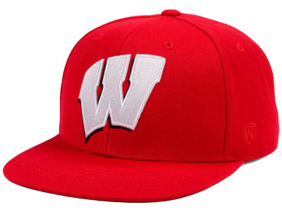 Wisconsin Badgers Top of the World NCAA Extra Logo Snapback Cap