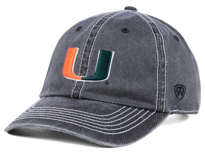 Miami Hurricanes Top of the World NCAA Grinder Adjustable Cap