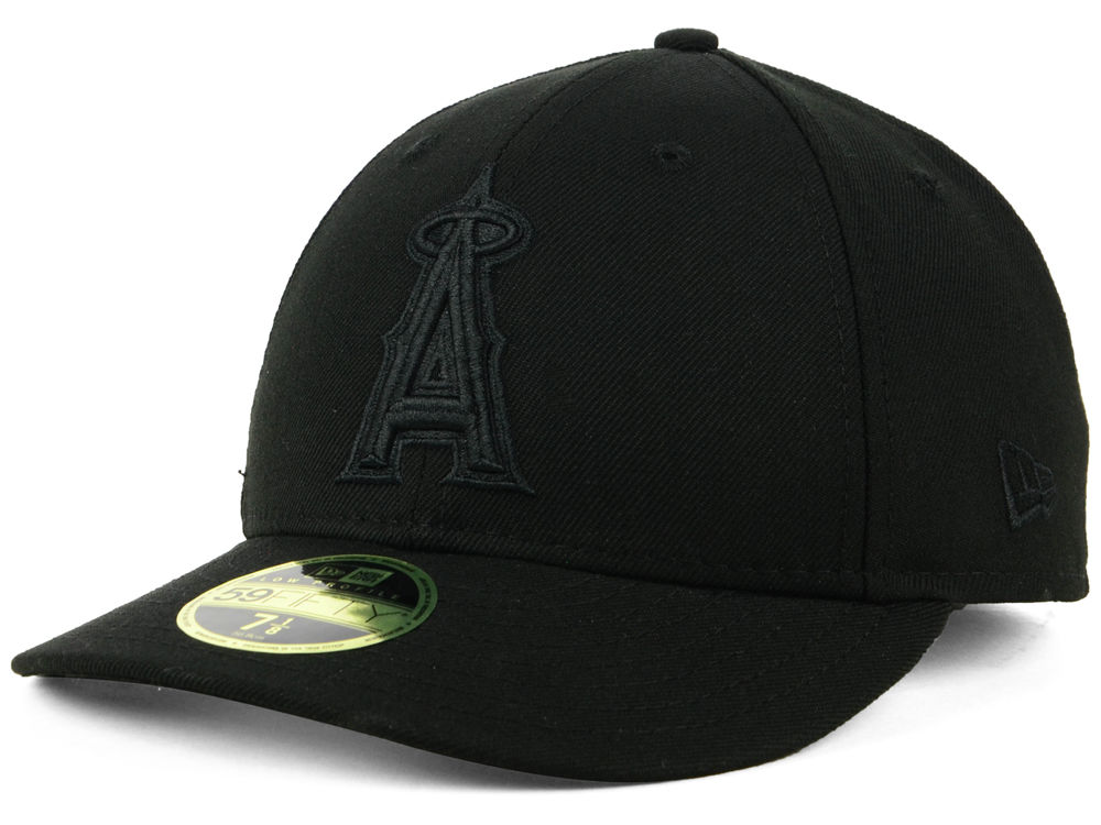 Los Angeles Angels New Era MLB Triple Black Low Profile 59FIFTY Cap ... c0f8084bd97