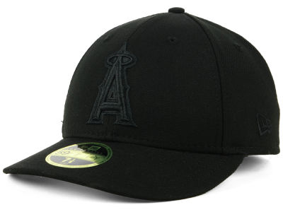 Los Angeles Angels New Era MLB Triple Black Low Profile 59FIFTY Cap