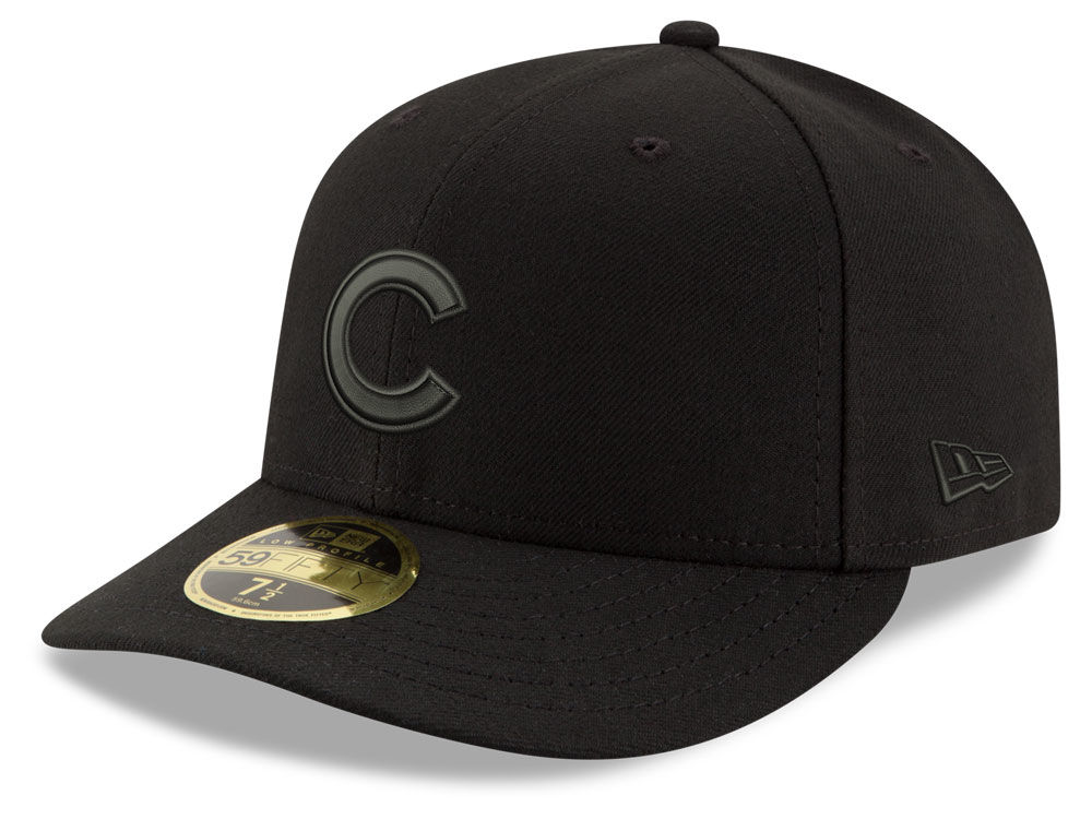 Chicago Cubs New Era MLB Triple Black Low Profile 59FIFTY Cap  fcbfbed5370