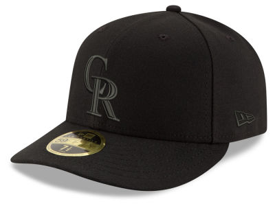 Colorado Rockies New Era MLB Triple Black Low Profile 59FIFTY Cap