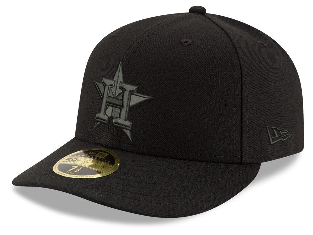 Houston Astros New Era MLB Triple Black Low Profile 59FIFTY Cap ... e77fca488c02
