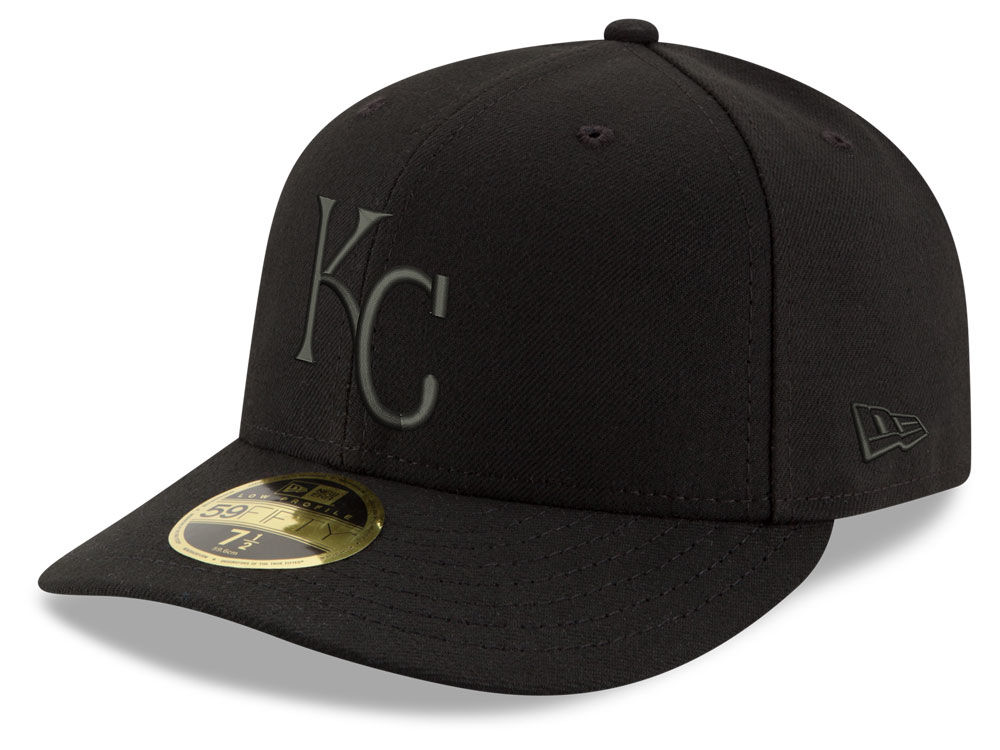 6771cd2d6df Kansas City Royals New Era MLB Triple Black Low Profile 59FIFTY Cap ...