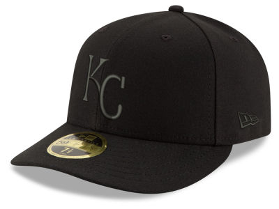 Kansas City Royals New Era MLB Triple Black Low Crown 59FIFTY Cap