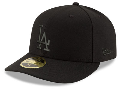 Los Angeles Dodgers New Era MLB Triple Black Low Profile 59FIFTY Cap