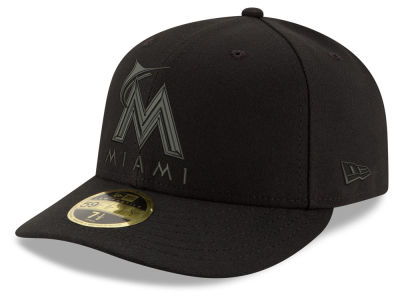 Miami Marlins New Era MLB Triple Black Low Profile 59FIFTY Cap