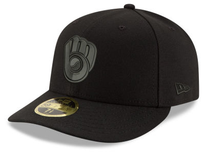 Milwaukee Brewers New Era MLB Triple Black Low Profile 59FIFTY Cap