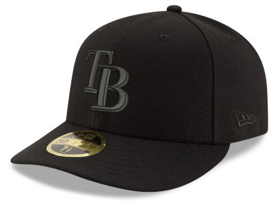 Tampa Bay Rays New Era MLB Triple Black Low Profile 59FIFTY Cap
