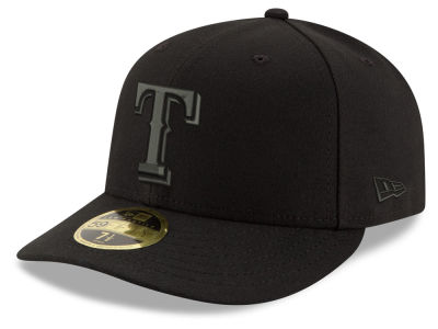 Texas Rangers New Era MLB Triple Black Low Profile 59FIFTY Cap