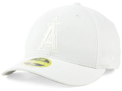 Los Angeles Angels New Era MLB Triple White Low Profile 59FIFTY Cap