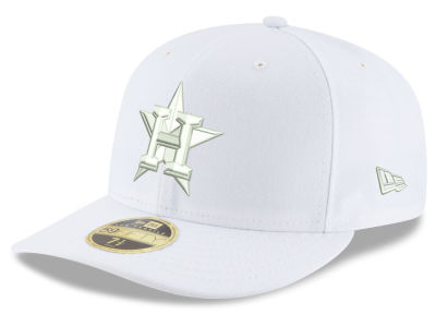 Houston Astros New Era MLB Triple White Low Profile 59FIFTY Cap