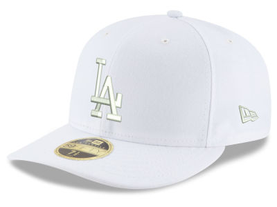 online store 6df1e 4d1d5 ... buy los angeles dodgers new era mlb triple white low profile 59fifty cap  5ab45 63d42