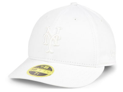 New York Mets New Era MLB Triple White Low Profile 59FIFTY Cap