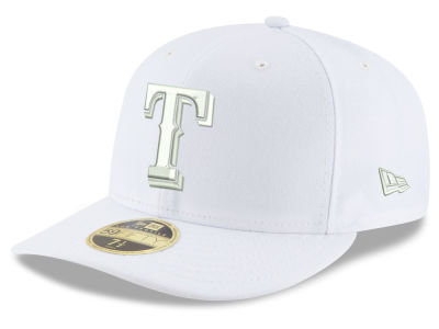 Texas Rangers New Era MLB Triple White Low Profile 59FIFTY Cap