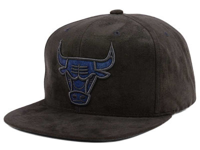 Chicago Bulls Mitchell & Ness NBA Flint Grey Hook Snapback Cap
