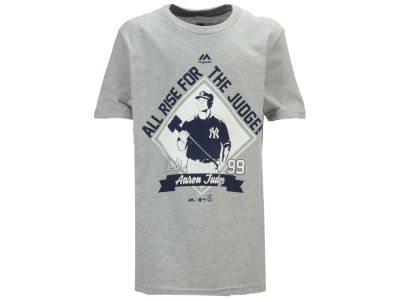 New York Yankees Aaron Judge Majestic MLB Youth Here Comes the Judge T-Shirt