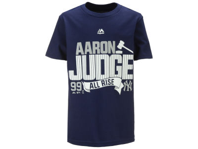 New York Yankees Aaron Judge Majestic MLB Youth Judge Pinstripes T-Shirt