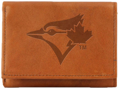 Toronto Blue Jays Team Logo Trifold Leather Wallet