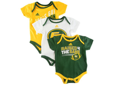 Edmonton Eskimos adidas CFL Infant Triple Time 3 Pack Creeper